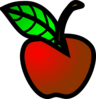 Small Red Apple Clip Art