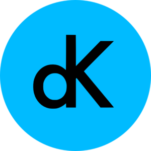 Dk Logo On Blue Circle Clip Art