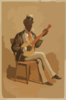 Swell Negro Banjo Player Clip Art