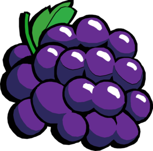 Retro Grapes Clip Art