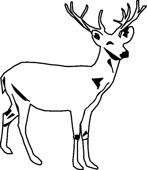 Deer White Clip Art At Clker Com Vector Clip Art Online Royalty Free Amp Public Domain