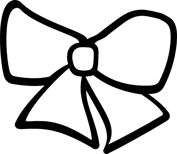 Hair Bow Clip Art At Clkercom Vector Clip Art Online Royalty - cheer bows coloring pages