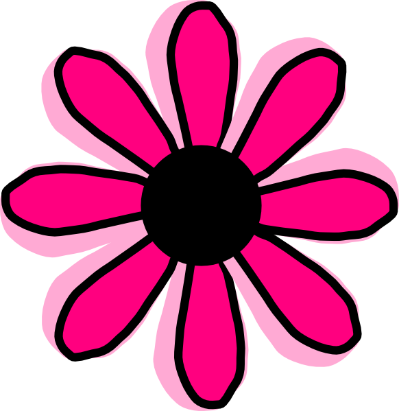Pink flower 12 clip art at clker vector clip art online download this image as mightylinksfo