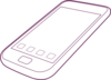 Purple Phone Outline Clip Art