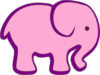 Pink And Purple Elephant Clip Art
