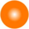 3d Light Orange Ball Clip Art