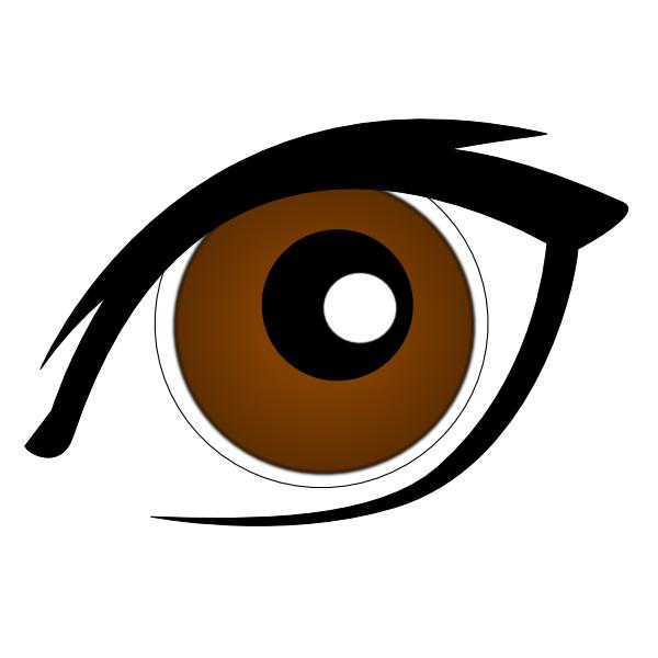brown eye clip art at clker com vector clip art online brown eyes clipart big brown eyes clipart