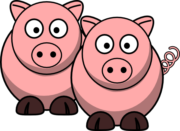 two pigs clip art at clker com vector clip art online royalty rh clker com pig clip art free images pig clipart black and white