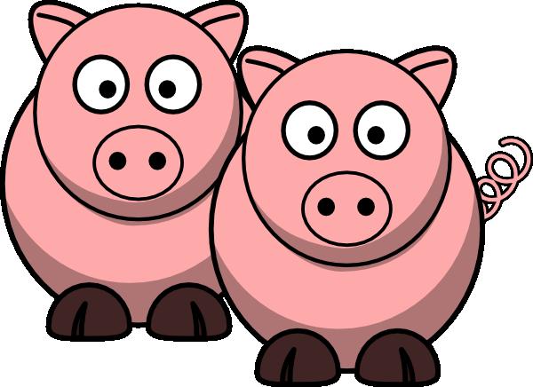 two pigs clip art at clker com vector clip art online royalty rh clker com