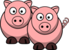 Two Pigs Clip Art