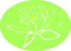 White Lotus Outline Clip Art