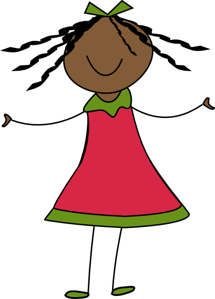 happy girl clip art at clkercom vector clip art online