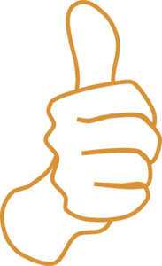 Thumbs Up White Sand Clip Art