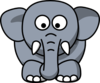 Little Gray Elephant Clip Art
