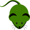 Cute Green Mouse Cartoon  Clip Art
