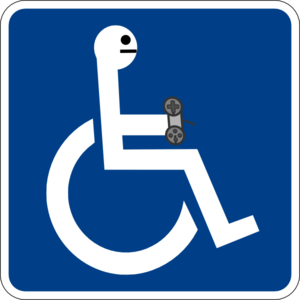 Disabled Gamer Clip Art