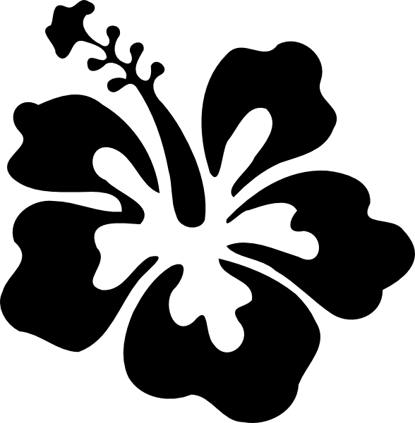 Hibiscus Simple Black Clip Art At Clker