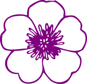Purple Buttercup Flower Clip Art