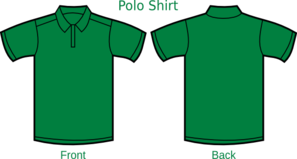 Darkgreen Poloshirt Template Clip Art