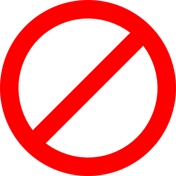 No Sign Clip Art