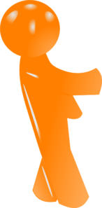 3d Orange Man 2 Clip Art