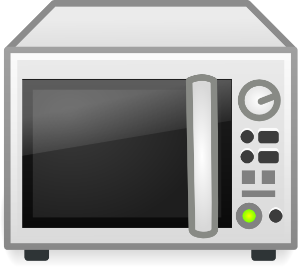 Cartoon Microwave Oven ~ Microwave oven clip art at clker vector