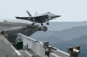 An F/a-18e Super Hornet Assigned To The  Eagles  Of Strike Fighter Squadron One One Five (vfa 115) Launches From The Flight Deck Aboard The Aircraft Carrier Uss Abraham Lincoln (cvn 72). Clip Art