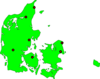 Denmark Outline Map Clip Art