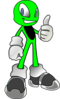 Green Alien2 Clip Art