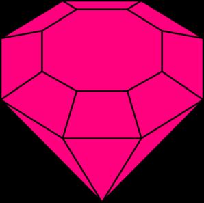 pink gem 2 clip art at clker com vector clip art online royalty rh clker com