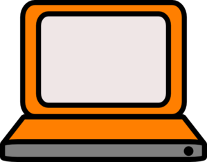 Orange Laptop Clip Art