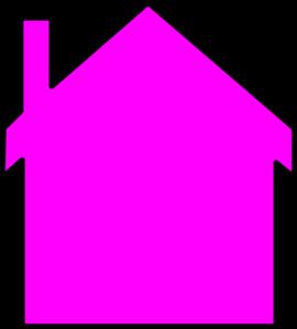 Pink House Logo Gook Clip Art At Clker Com Vector Clip