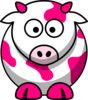 Pink Cow Clip Art