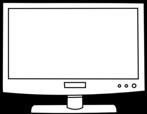 Television Outline Clip Art at Clker.com - vector clip art online ...