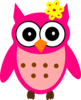 Baby Girl Owl With Bow Clip Art