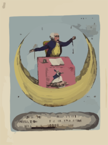 Sublime And Beautiful Reflections On The French Revolution, Or The Man In The Moon At Large Clip Art