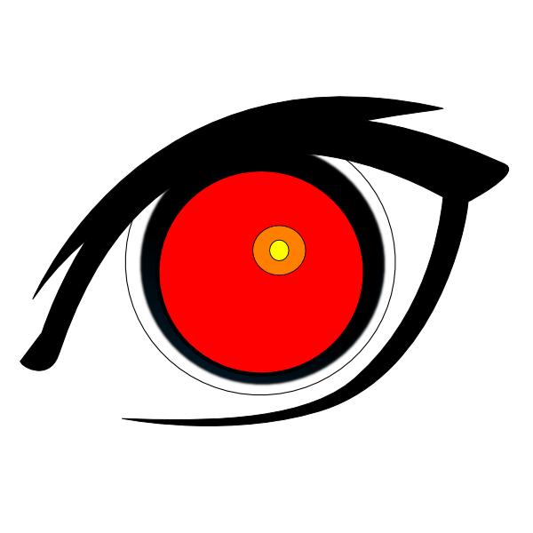 red eye clip art at clker com vector clip art online royalty free rh clker com clipart of an eyeball clipart of eyelashes