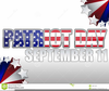 September Remembrance Clipart Image
