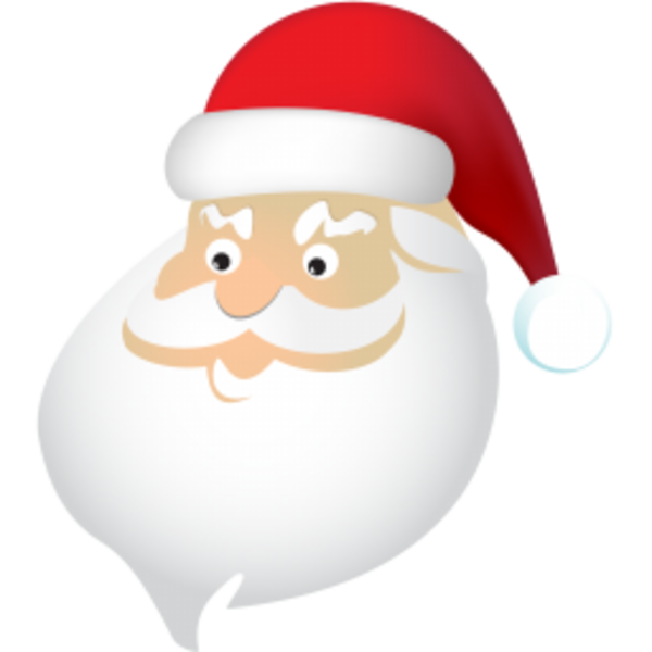 santa claus and his reindeer clipart