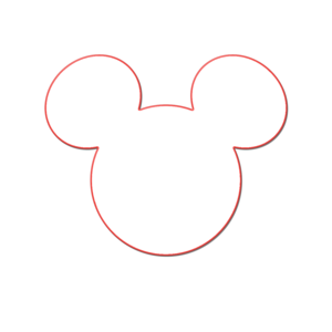 large mickey mouse head template - mickey head outline free images at vector