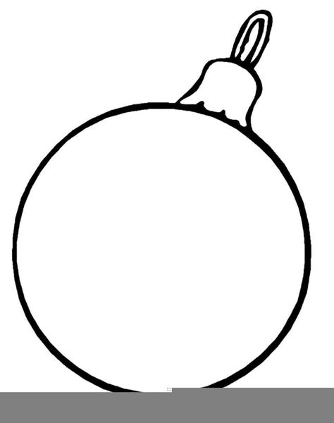Christmas Ornament Black White Clipart