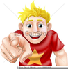 Man Pointing Clipart Image
