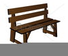 Wooden Bench Clipart Image
