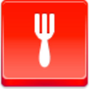 Free Red Button Icons Fork Image