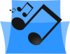 Blue Music Folder Clip Art