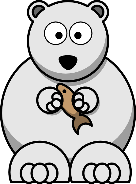 Polar Bear With Fish Clip Art at Clker.com - vector clip ...