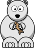 Polar Bear With Fish Clip Art