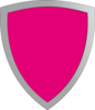 Magenta Shield Clip Art
