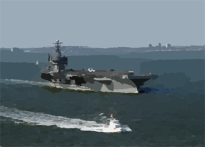 Uss George Washington (cvn 73), Sails Out Of The Chesapeake Bay As It Prepares For Composite Training Unit Exercise (comptuex) In The Atlantic Ocean Clip Art