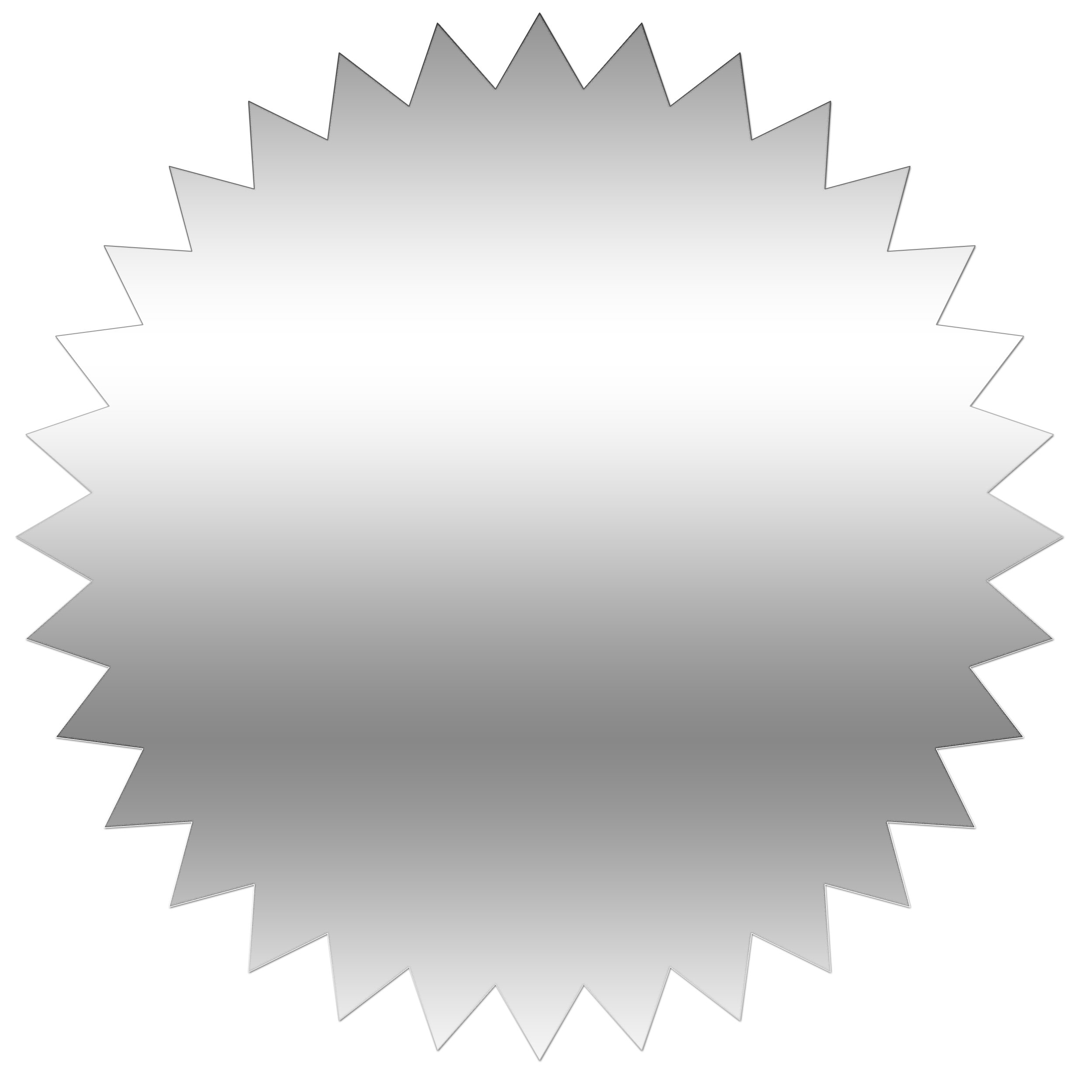 Clip Art Star with a Circle around It